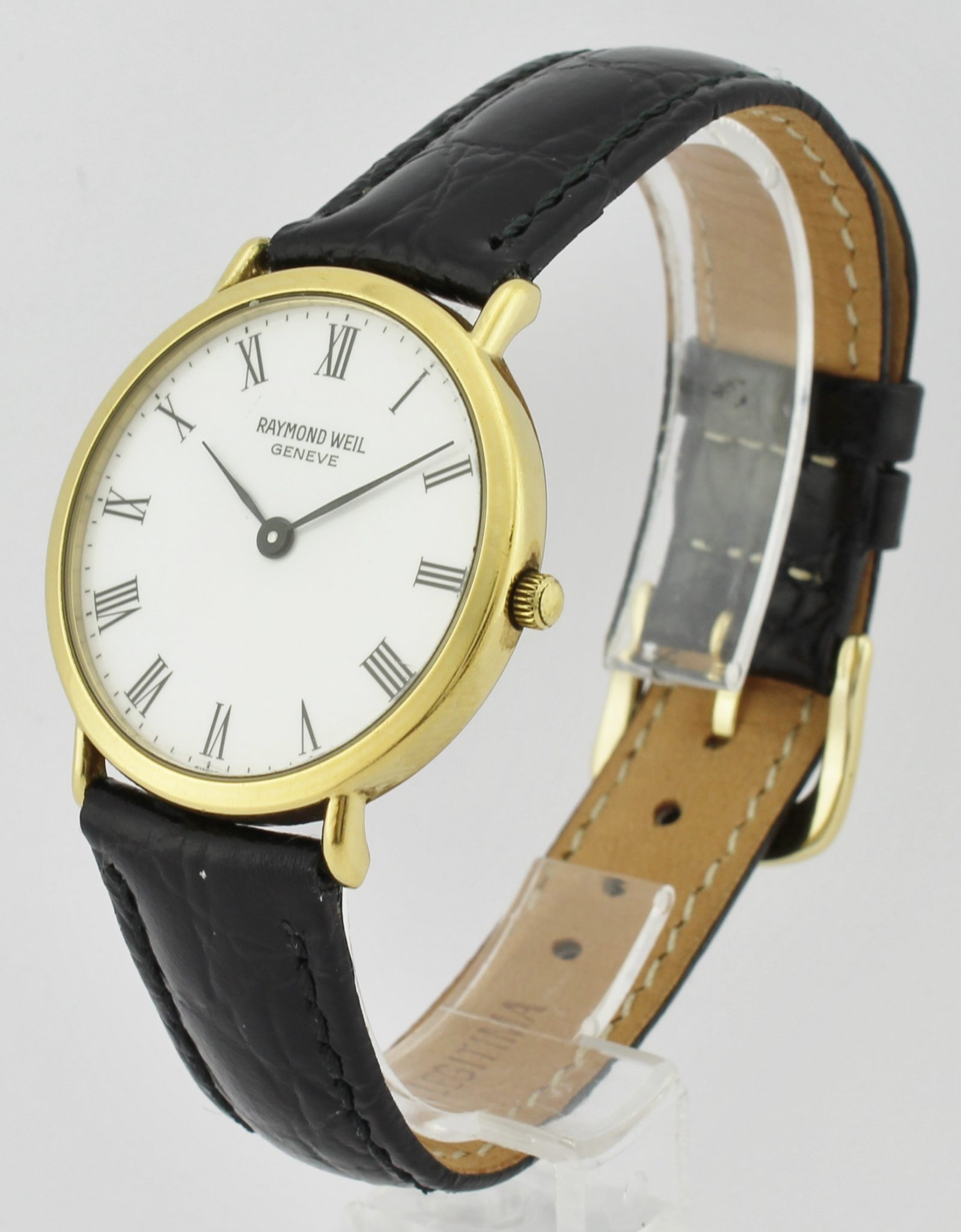 Raymond weil geneve vintage 18k gold electroplated corello for Raymond weil watch